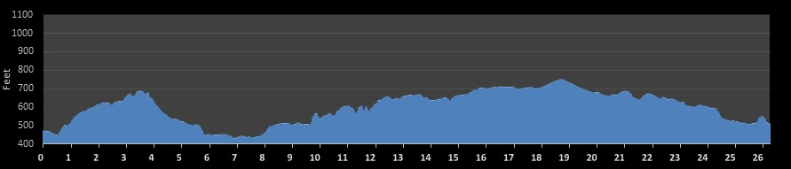 Austin Marathon Elevation Chart