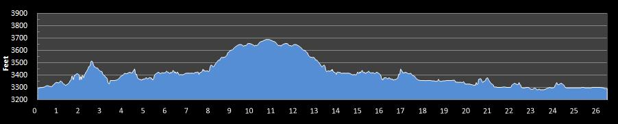 Brian Mickelsen Memorial Marathon Elevation Chart