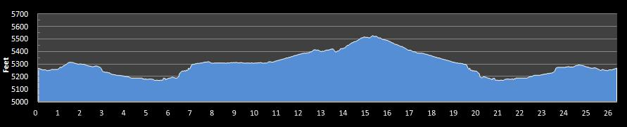 Colfax Marathon Elevation Chart