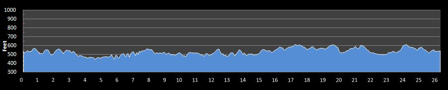 Tyler Rose Marathon Elevation Chart